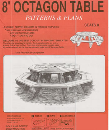 octagon picnic table woodworking plans home page woodworking plans ...